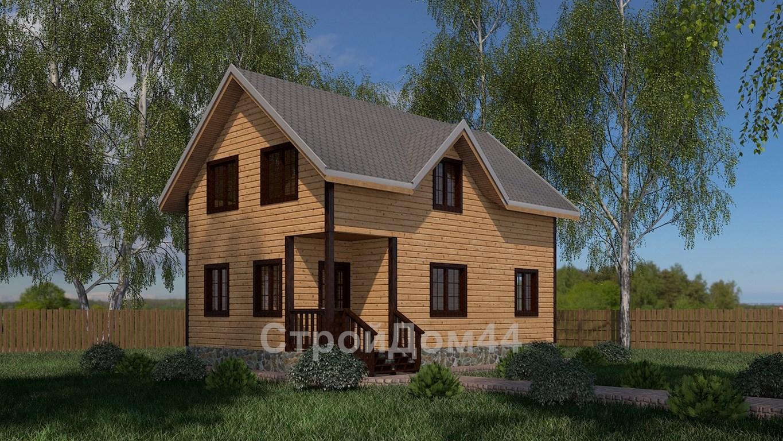Купите дачный дом из бруса 6х9 м по проекту Д-1