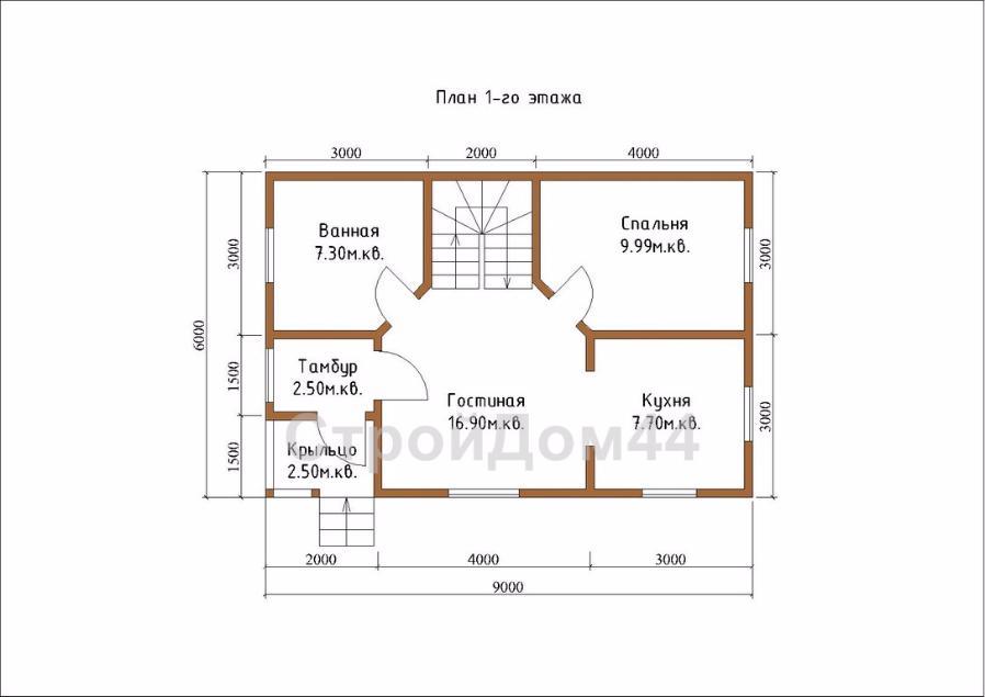 Купите дачный дом из бруса 6х9 м