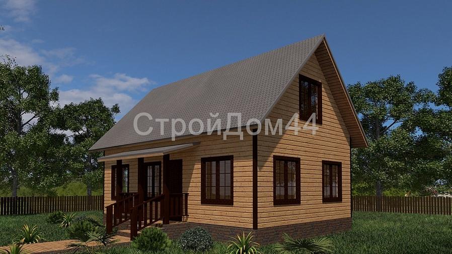 Купите дачный дом из бруса 6х8 м по проекту Д-6 по цене 515 000 рублей