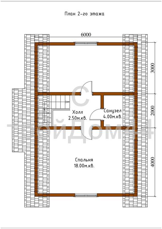 Купите дачный дом из бруса 6х8 м