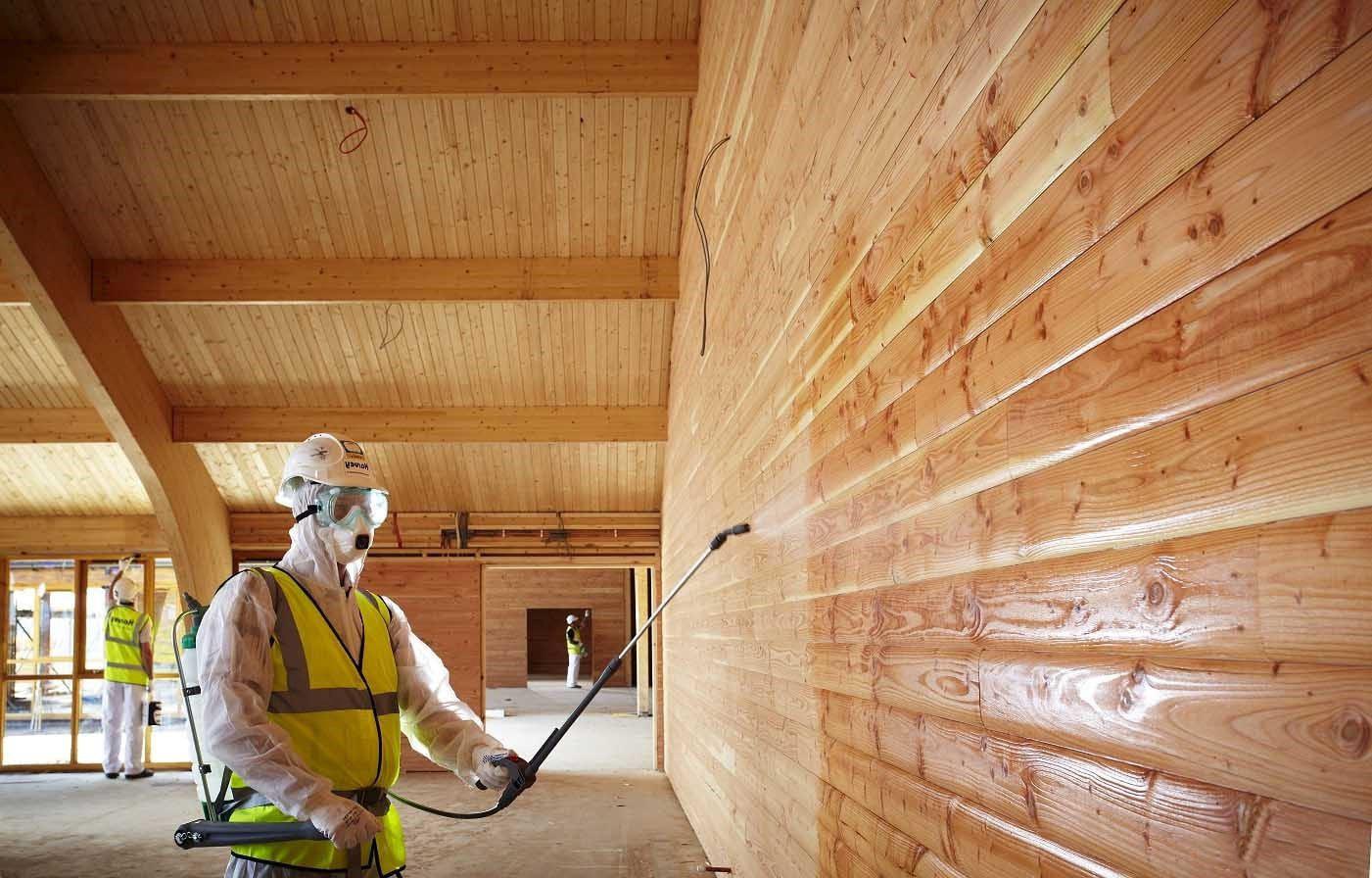 как покрыть лаком деревянную вагонку